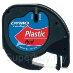 DYMO Black on Red LetraTag Plastic Tapes-Personal Labelmakers - SMOP91203