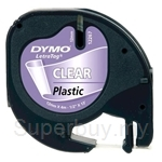 DYMO Black on Transparent LetraTag Plastic Tapes-Personal Labelmakers - SMOP12267
