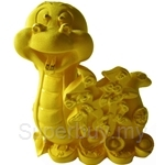 Gold Gift 24K Gold Plated Prosperity Golden Snake - 4204