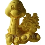 Gold Gift 24K Gold Plated Prosperity Golden Snake - 4206