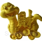 Gold Gift 24K Gold Plated Prosperity Golden Snake - 4207