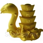 Gold Gift 24K Gold Plated Prosperity Golden Snake - 4208