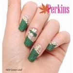 PERKINS Nail Wrap Green Leaf - N09