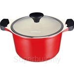 Lock & Lock 24cm Cookplus Ceramic Stock Pot