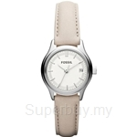 Fossil Women's Archival Mini Beige Leather Strap Watch - ES3173