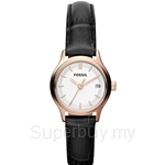 Fossil Women's Archival Mini Black Leather Strap Watch - ES3169