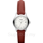 Fossil Women's Archival Mini Brick Red Leather Strap Watch - ES3172