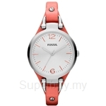 Fossil Women's Georgia Orange Leather Watch - ES3219