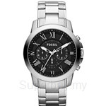 Fossil Men's Grant Stainless Steel Bracelet Chronograph Watch - FS4736