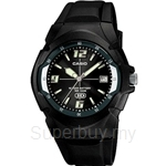 Casio Standard Analog 10 year Battery Black Resin Watch - MW-600F-1AV