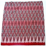 Moochiku Merah Menyala Ulu Borneo Motif Fabric (Burning Red)