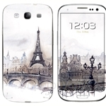 Stico Samsung S3 Skin Paris Painting - S3001