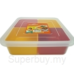 Coolrara Multi Container Square 1.2L with 4 Divider - C0-104
