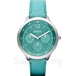 Fossil Women's The Editor Aqua Leather Watch - ES3243