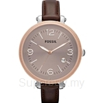 Fossil Women's Heather Dark Brown Leather Watch - ES3132