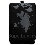 DQ Digi Case World Map Cool Black - DQ-121067DC2