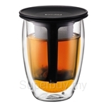 Bodum Tea for One Purple Double Wall and Tea Strainer - K11153-278