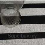 Chilewich Shag Bold Stripe Door Mat 46 x 71cm (Black-White)