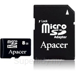 Apacer Flash card - 2GB Micro SD (2in 1) with adapter