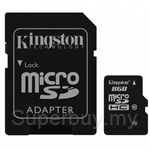 Kingston Micro SDHC 8GB Class 10 (With Adapter)