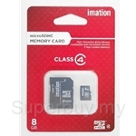 Imation Micro SDHC with Adapter and Storage Case Class 4 - 8 GB