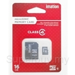 Imation Micro SDHC with Adapter and Storage Case Class 4 - 16 GB