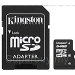 Kingston Micro SDHC 64GB Class 10 (With Adapter)