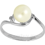 Lazo Diamond 9KW Pearl Diamond Ring - PR4621