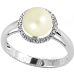 Lazo Diamond 9KW Pearl Diamond Ring - PR4806
