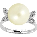 Lazo Diamond 9KW Pearl Diamond Ring - PR4919