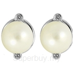 Lazo Diamond 9KW Pearl Diamond Earring - PE1715