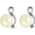 Lazo Diamond 9KW Pearl Diamond Earring - PE1982