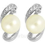 Lazo Diamond 9KW Pearl Diamond Earring - PE1872