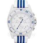Adidas Men's Stockholm Chronograph Fabric-Leather Strap Watch - ADH2665