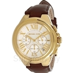 Michael Kors MK2266 Women's Rose Gold Tone and Leather Camille Chronograph Watch