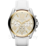 Michael Kors MK2282 Women's White Leather Chronograph Watch