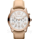 Michael Kors MK2283 Women's Sand-color Leather Chronograph Watch