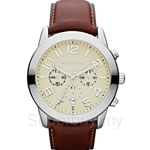 Michael Kors MK8292 Men's Brown Leather Chronograph Watch