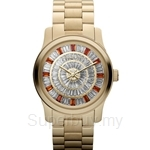 Michael Kors MK5729 Women's Yellow Gold Plated Bagutte Crystals Watch