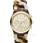 Michael Kors MK4270 Women's Tortoise-Cream Horn Chronograph Watch
