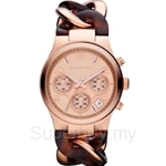 Michael Kors MK4269 Women's Tortoise Rose Gold Plated Chronograph Watch
