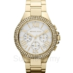Michael Kors MK5756 Women's Camille Yellow Gold Plated Chronograph Crystals Watch