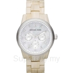 Michael Kors MK5625 Women's Multifunction Crystals White Horn Acrylic Watch