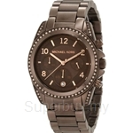 Michael Kors MK5493 Women's Brown Chronograph Crystals Watch