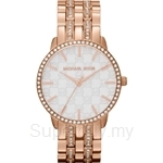 Michael Kors MK3183 Women's Rose Gold Plated Stainless Steel Nini Three-Hand Glitz Watch