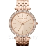 Michael Kors MK3192 Women's Rose Gold Plated Stainless Steel Glitz Watch