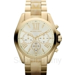 Michael Kors MK5722 Unisex Yellow Gold Stainless Steel and Acetate Bradshaw Chronograph Watch