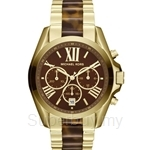 Michael Kors MK5696 Unisex Yellow Gold Stainless Steel Bradshaw Chronograph Watch