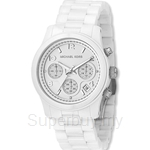 Michael Kors MK5161 Women's White Ceramic Chronograph Watch
