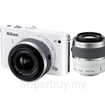 Nikon 1 J3 Double Zoom Kit 10-30mm VR, 30-110mm VR (Nikon Warranty)